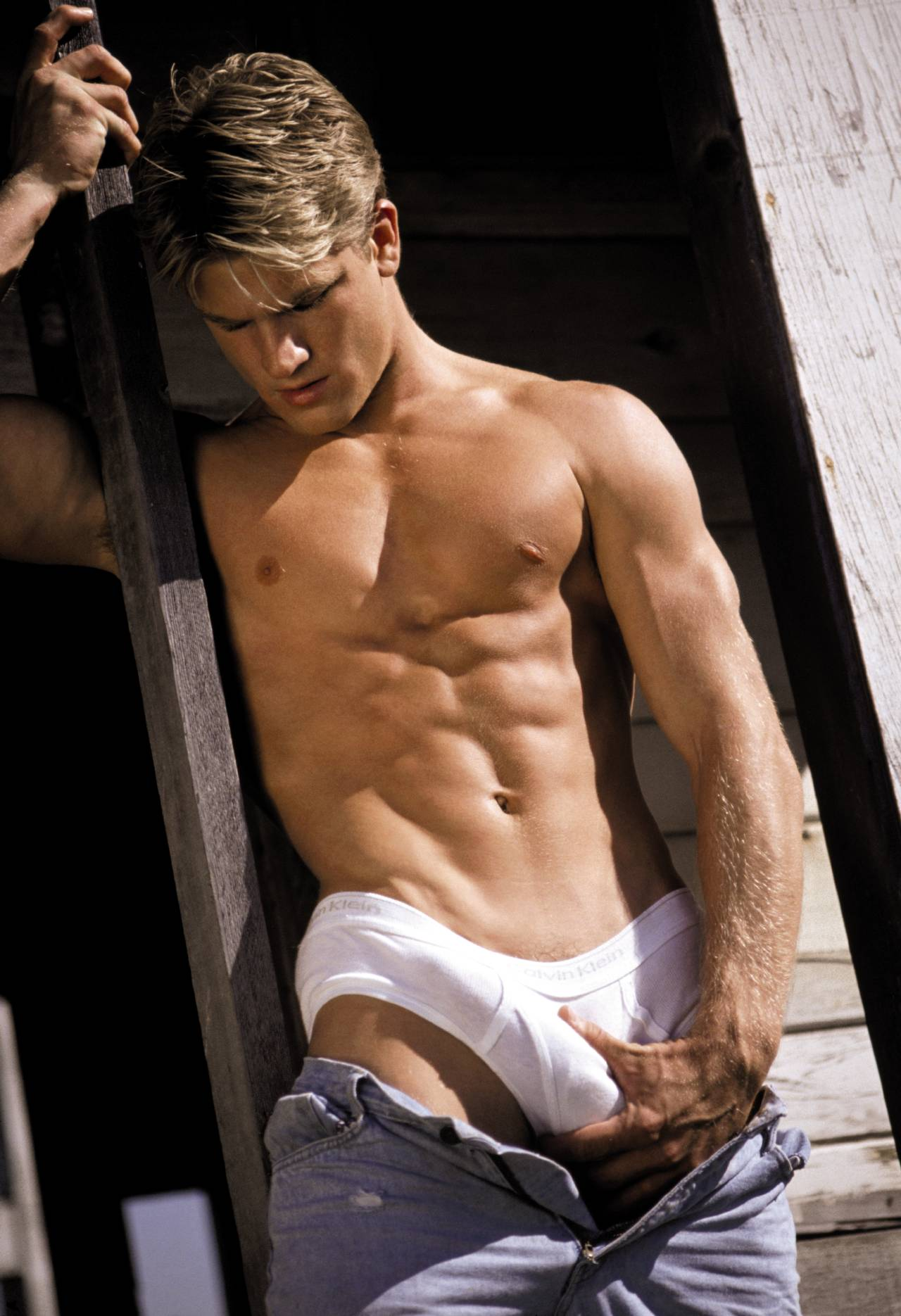 image Hot gay scene john does just that after